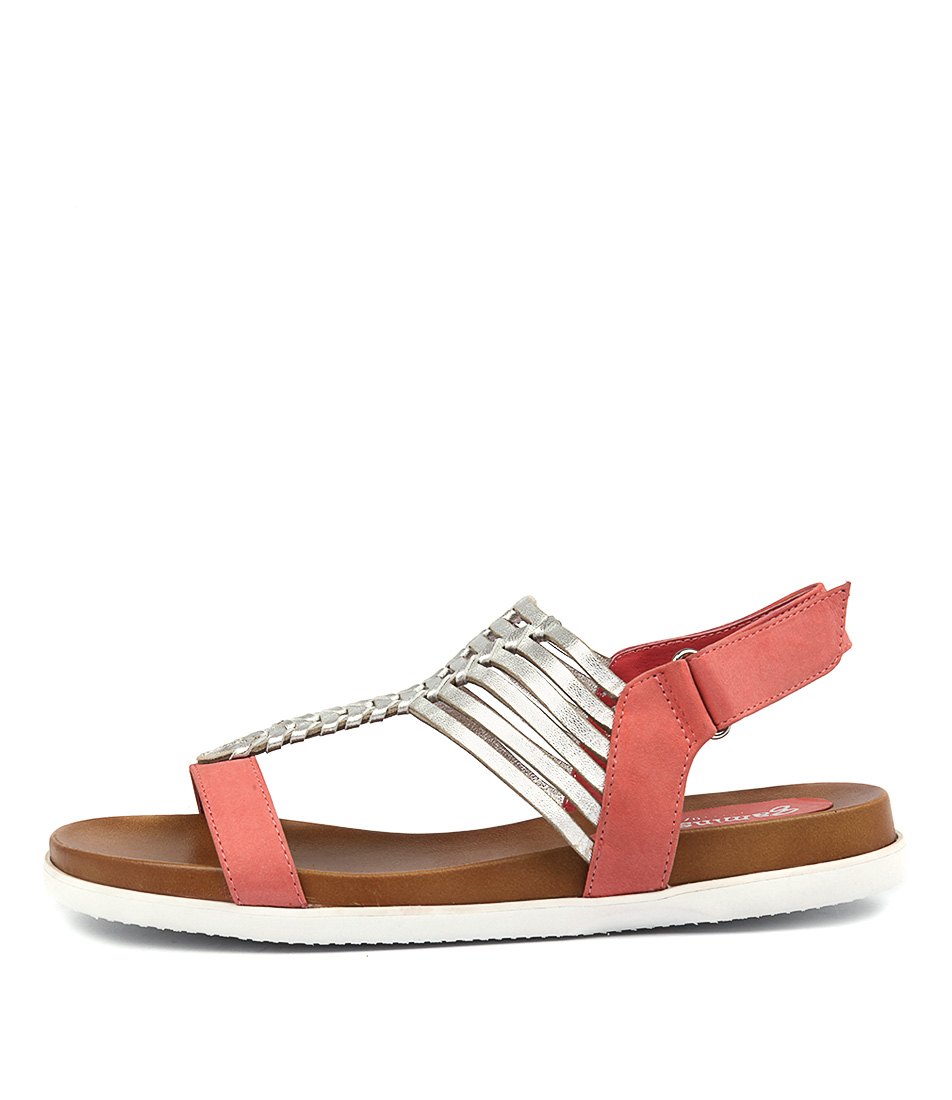 Gamins Vanna Watermelon Silv Sandals