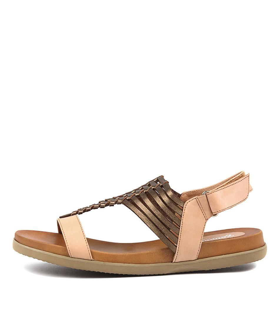 Gamins Vanna Lt Tan Bronze Sandals