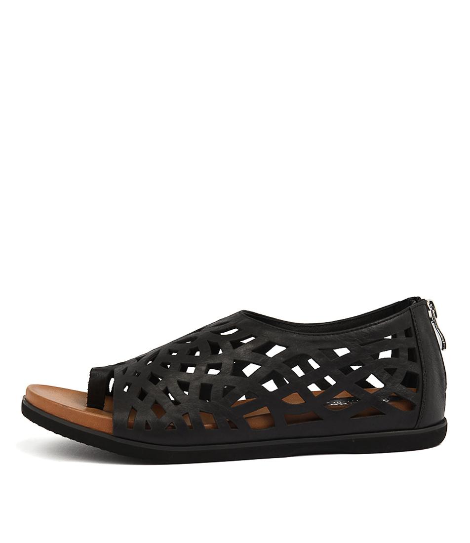 Gamins Veded Black Sandals