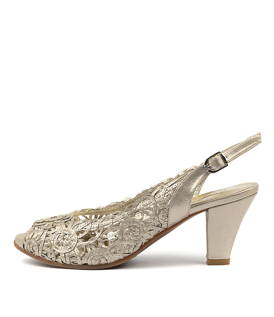 Buy Gamins Zendias Champagne Shine Heeled Sandals online with free shipping