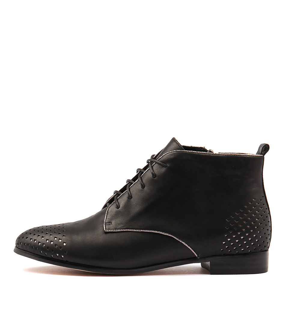 Gamins Jubly Black Pewter Ankle Boots