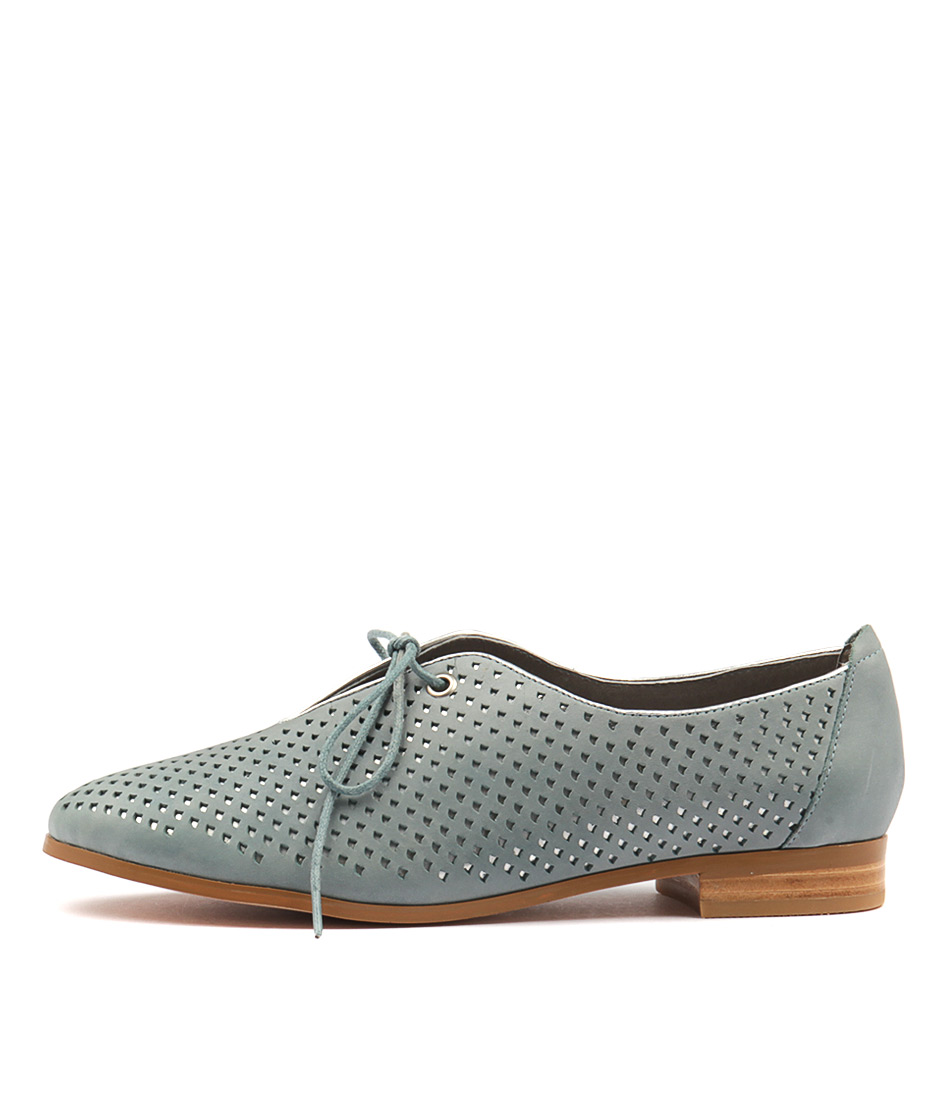 Gamins Junco Blue Grey Silver Flat Shoes