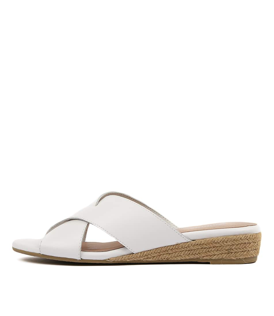 Buy Gamins Chaz White White Flat Sandals online with free shipping