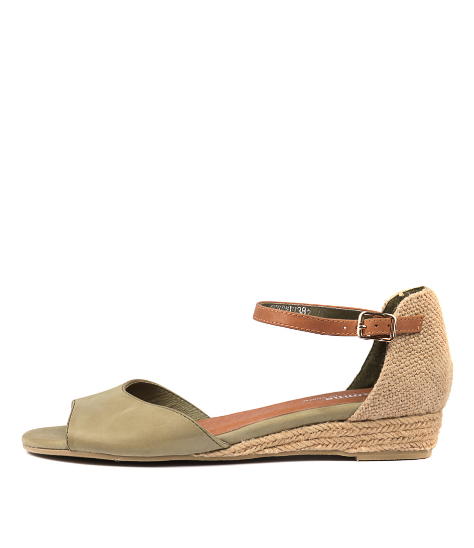 Buy Gamins Cheryl Olive Heeled Sandals online with free shipping