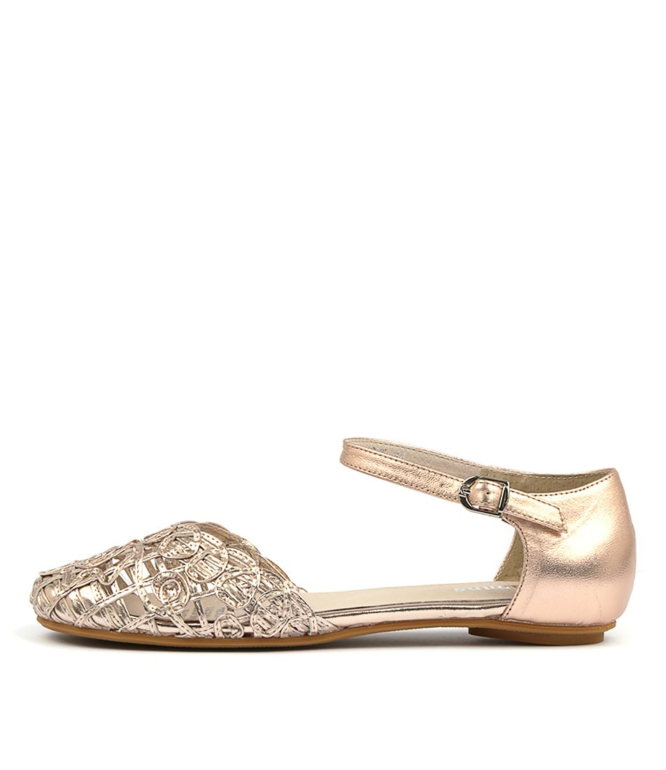 Buy Gamins Esme Rose Gold Flats online with free shipping
