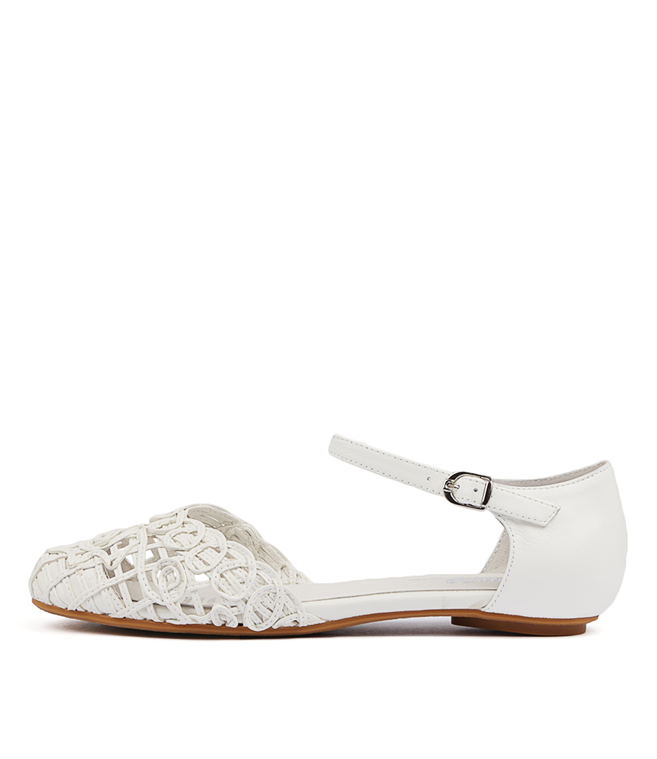 Buy Gamins Esme White Flats online with free shipping