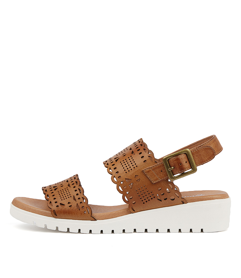Buy Gamins Floy Dk Tan Flat Sandals online with free shipping