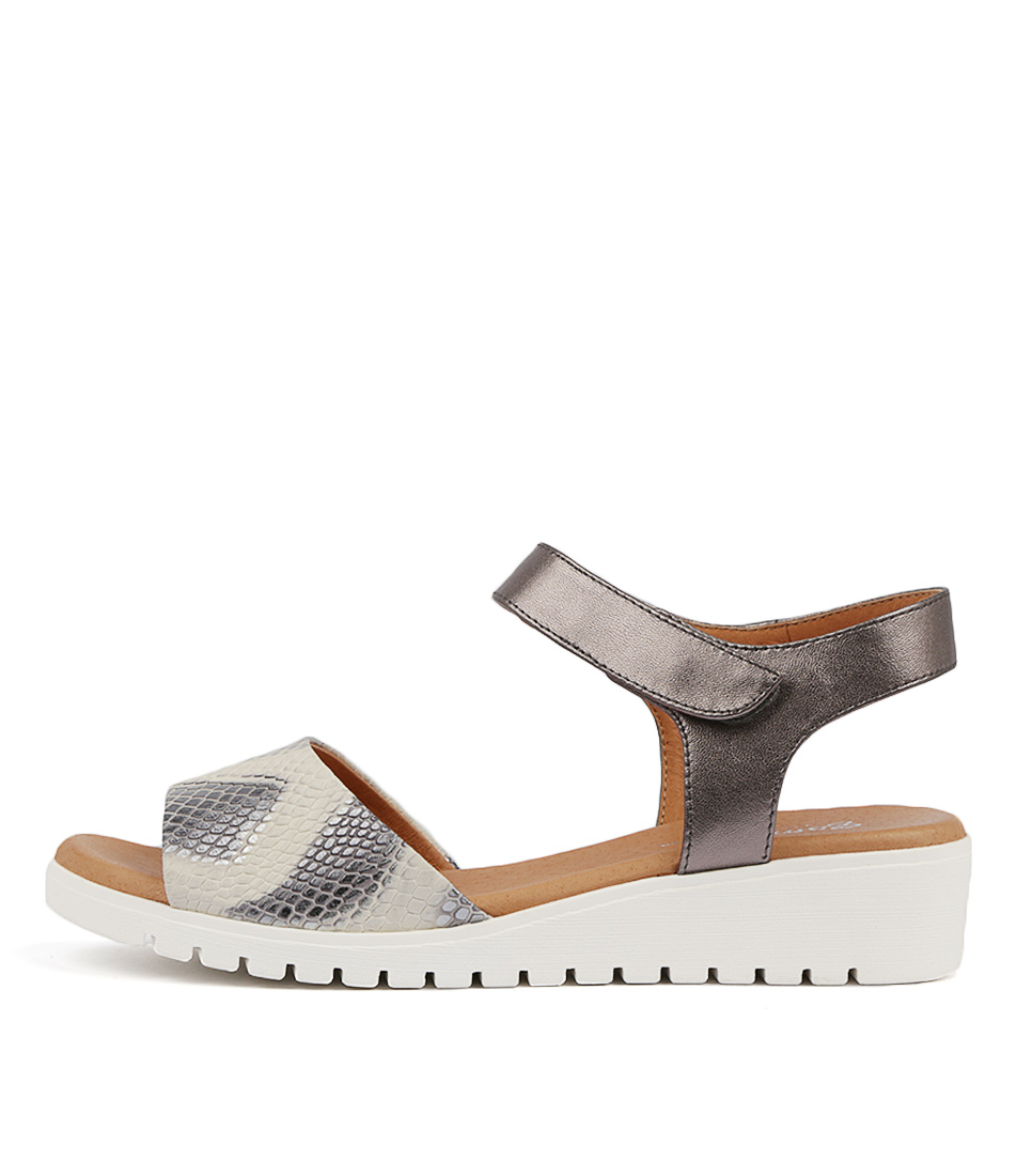 Buy Gamins Fultons Grey Multi Pewt Flat Sandals online with free shipping