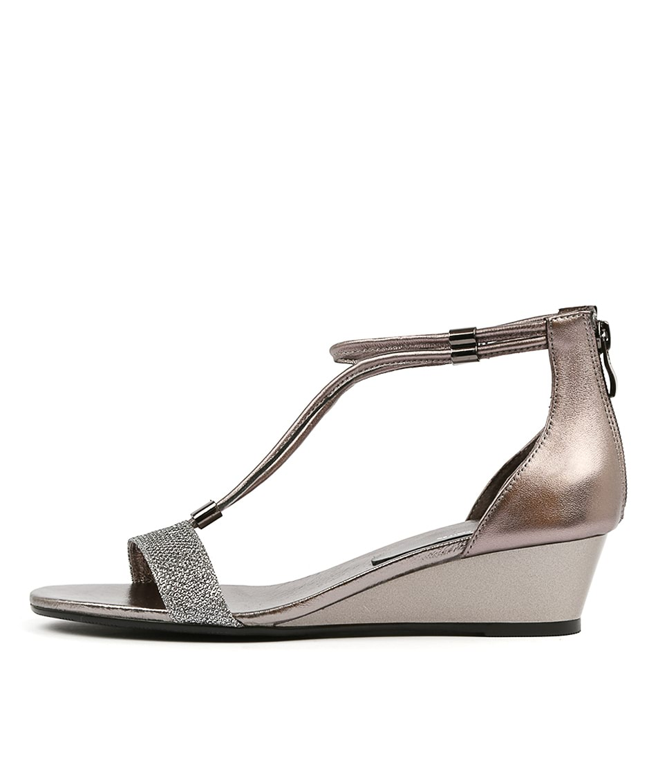 Buy Gamins Karolyn Pewter Metallic Heeled Sandals online with free shipping