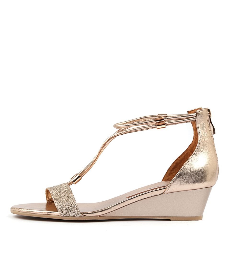 Buy Gamins Karolyn Champagne Met R Heeled Sandals online with free shipping