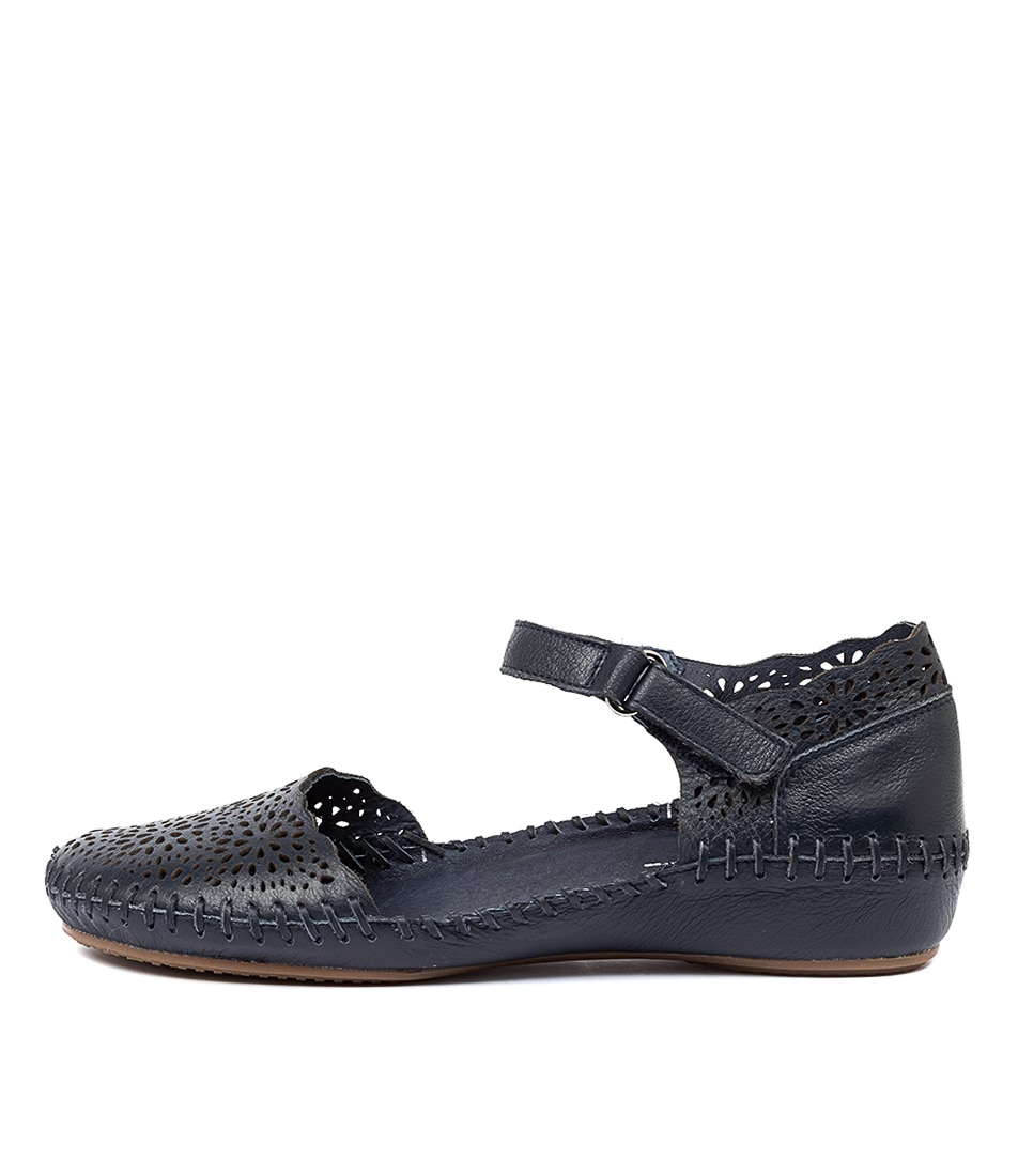 Buy Gamins Rube Navy Flats online with free shipping