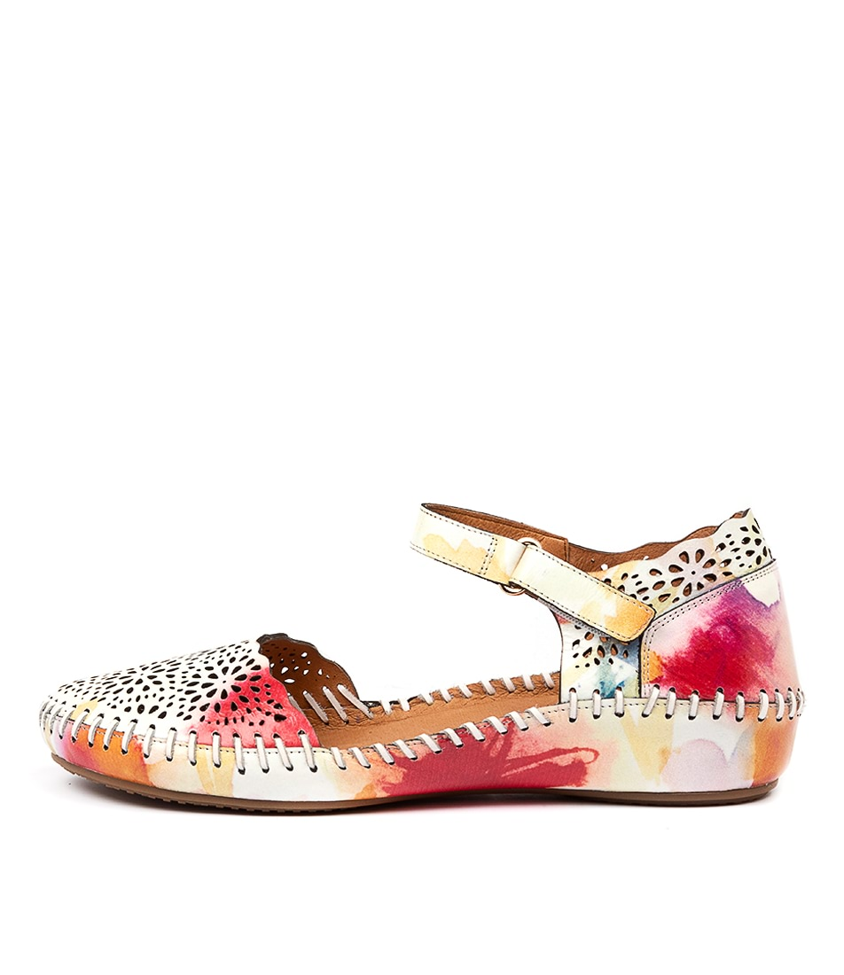Buy Gamins Rube Tan Multi Flats online with free shipping