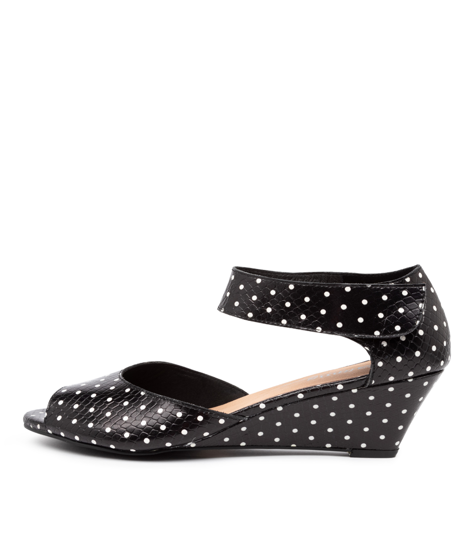 Buy Gamins Winez Black Dot Heeled Sandals online with free shipping