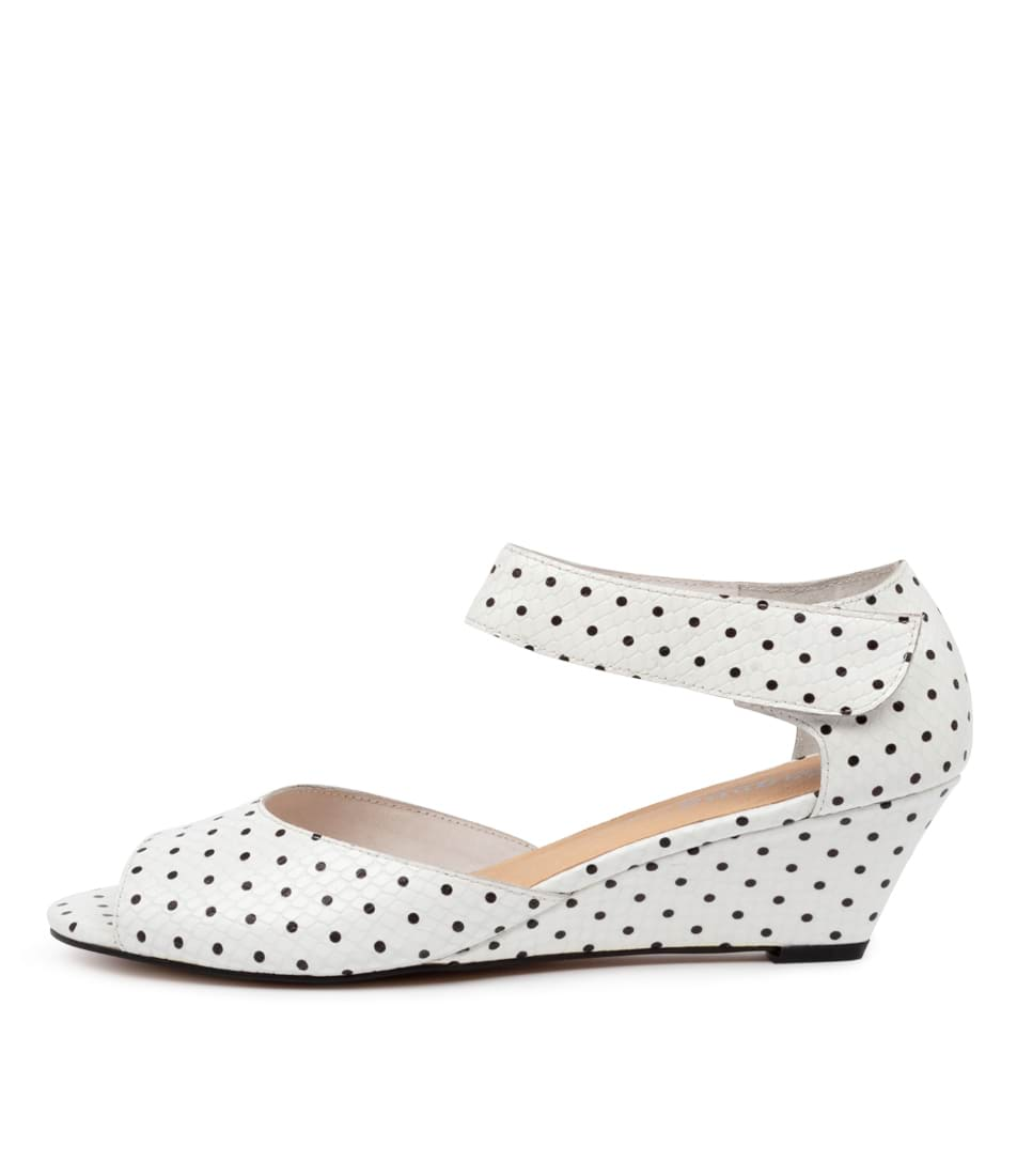 Buy Gamins Winez White Dot Heeled Sandals online with free shipping