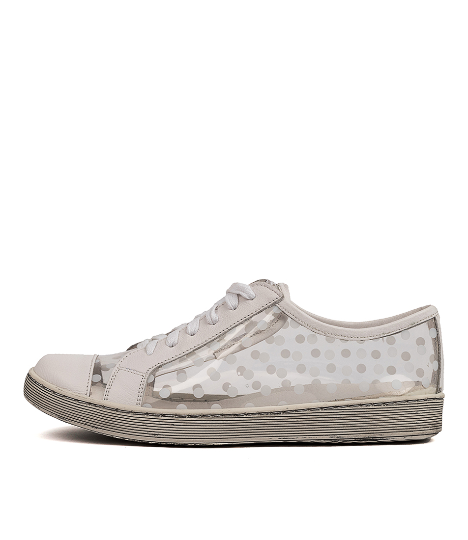 Buy Gamins Dorine Gm White Clear & White Dot Sneakers online with free shipping