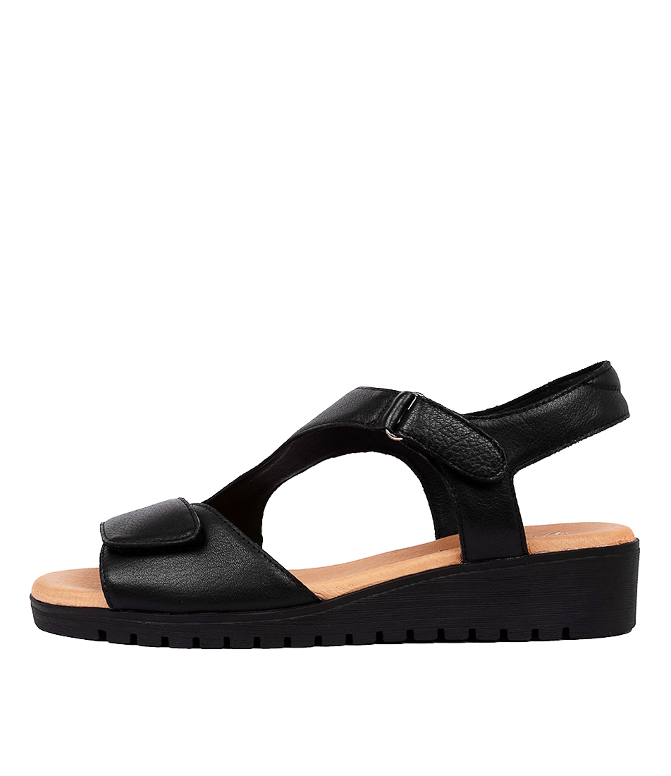 Buy Gamins Florene Gm Black Sole Flat Sandals online with free shipping