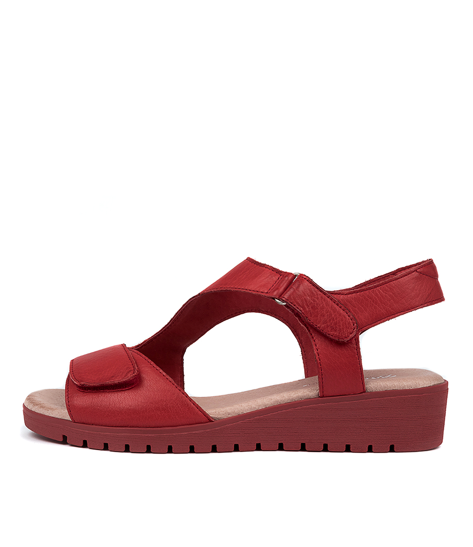 Buy Gamins Florene Gm Red Red Sole Flat Sandals online with free shipping