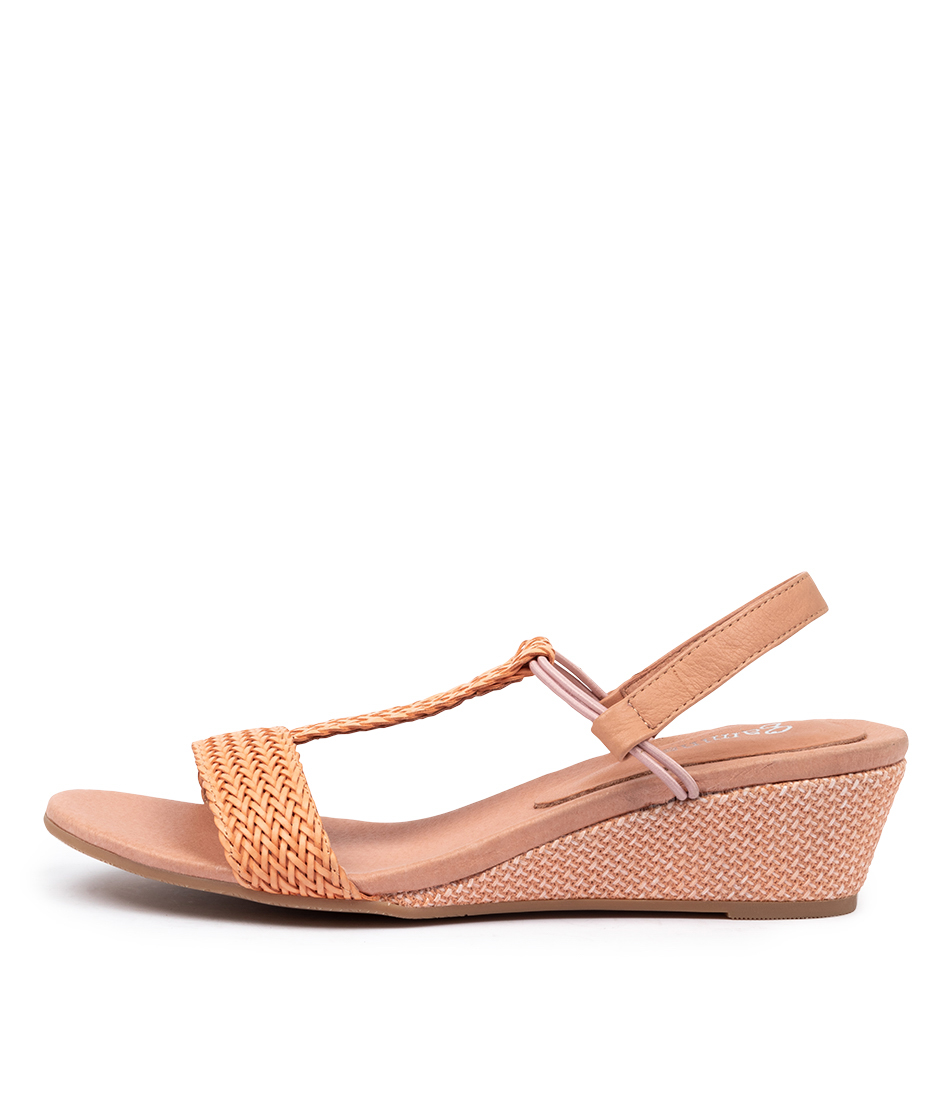 Buy Gamins Klossom Gm Salmon Cantaloupe Heeled Sandals online with free shipping