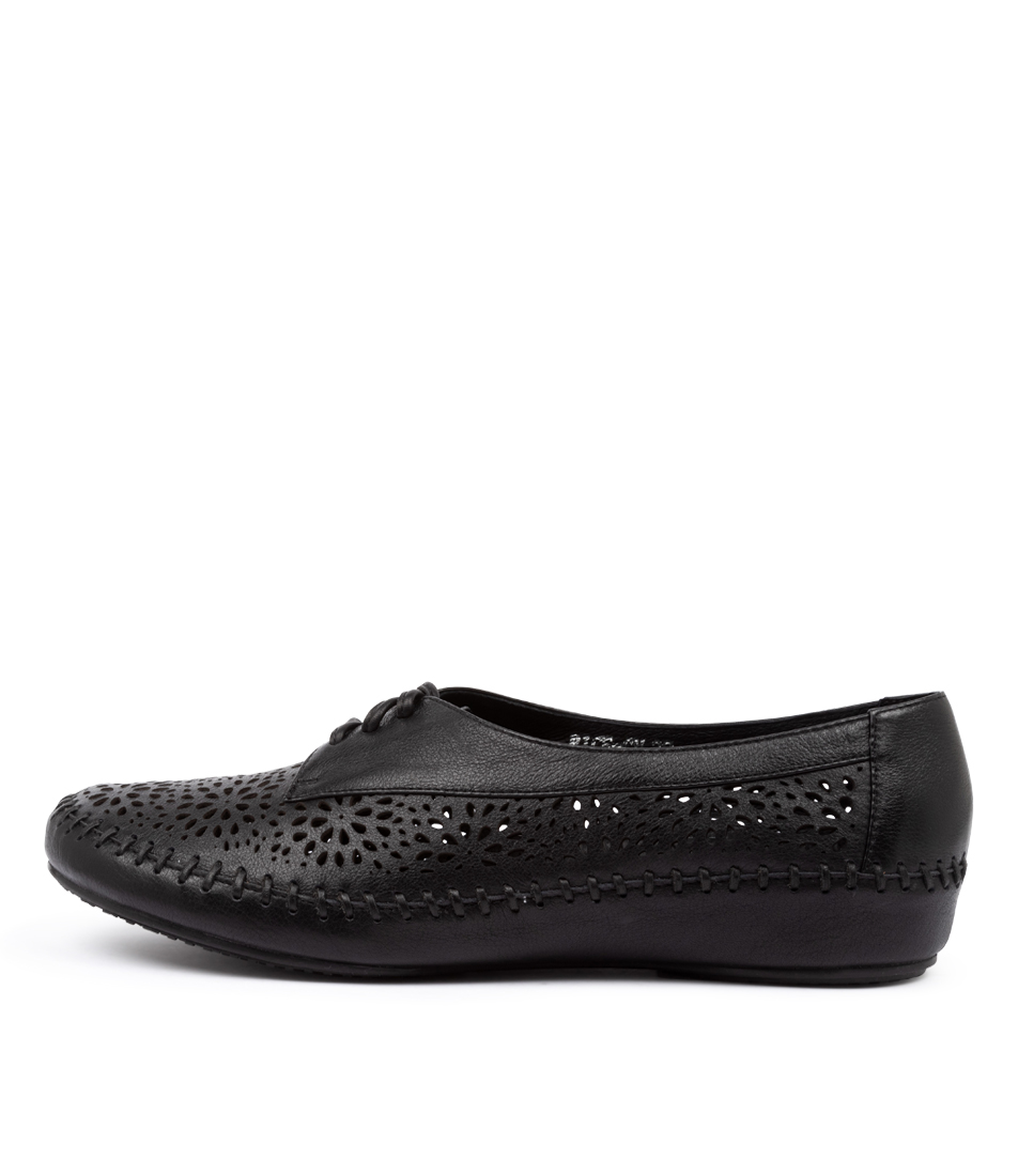 Buy Gamins Rice Gm Black Flats online with free shipping