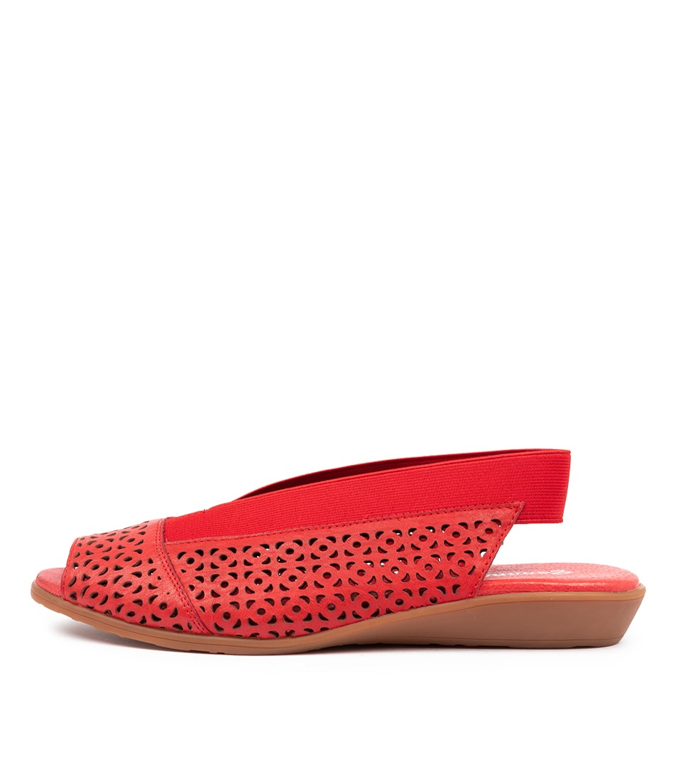 Buy Gamins Rosena Gm Red Flat Sandals online with free shipping