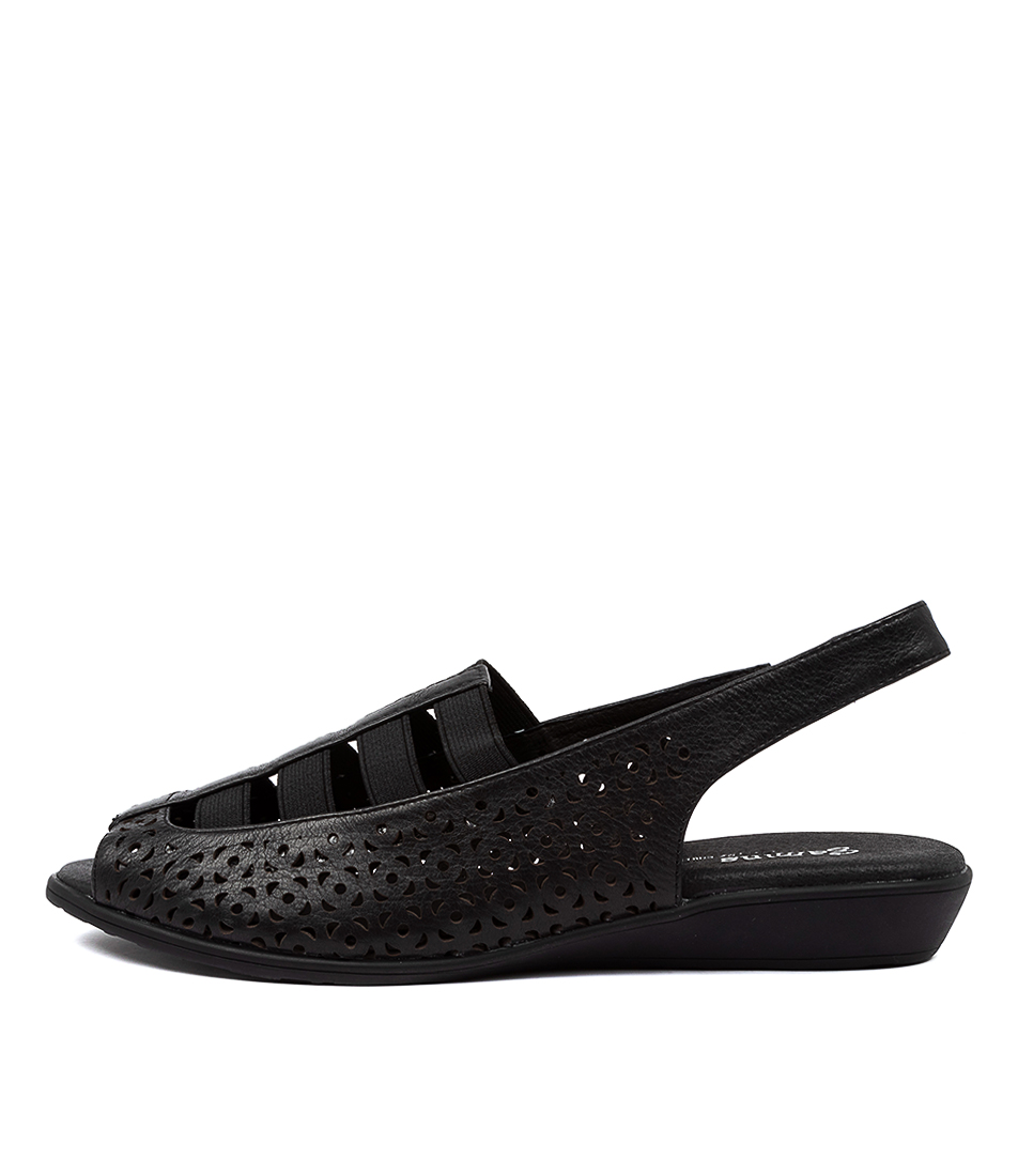 Buy Gamins Russel Gm Black Flat Sandals online with free shipping