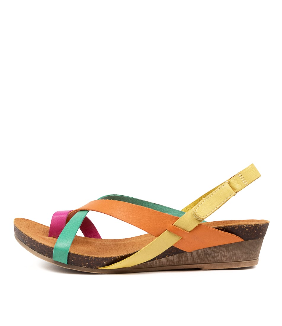 Buy Gamins Marian Gm Fuchsia Bright Flat Sandals online with free shipping