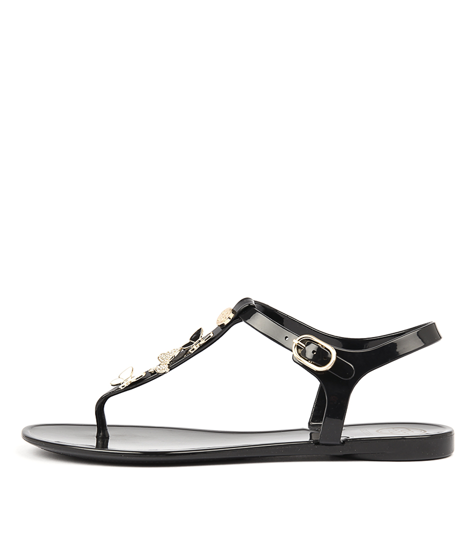 Guess Jalona Black Flat Sandals