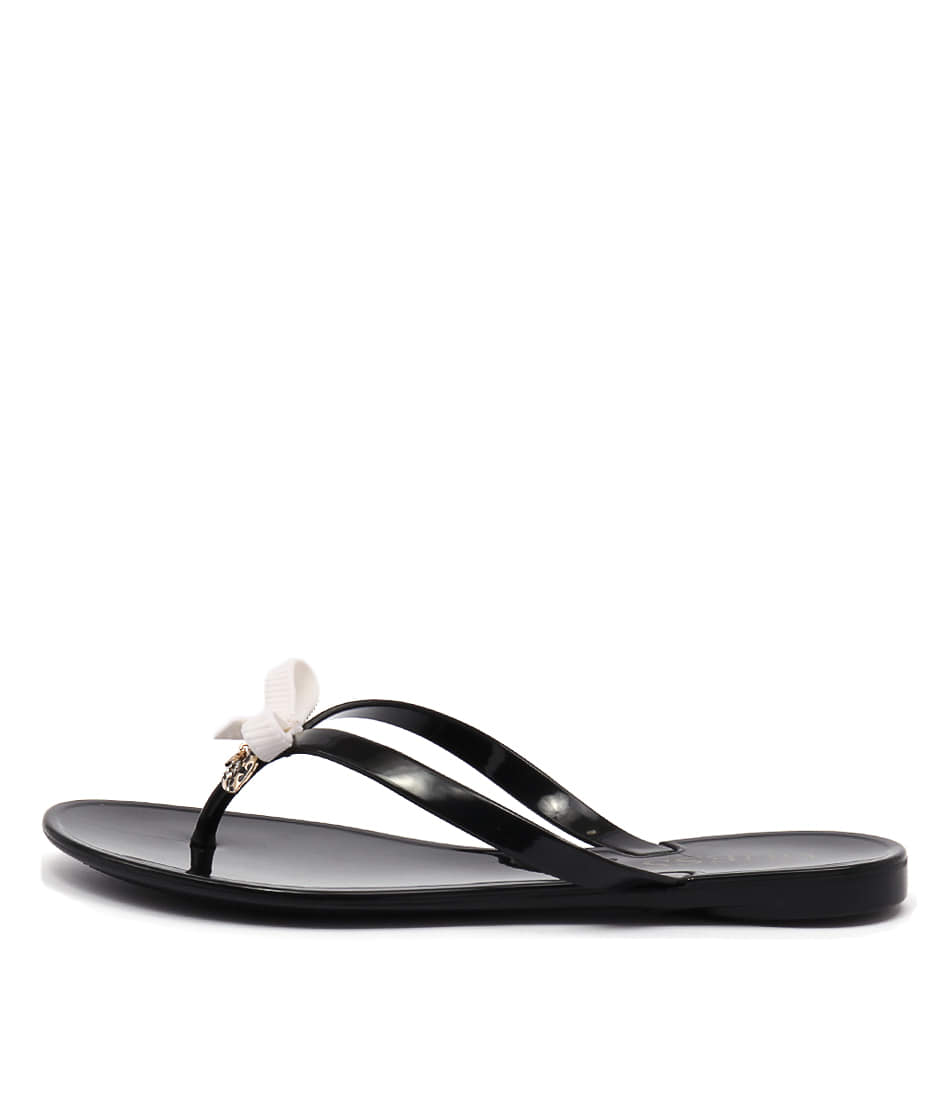 Guess Joyae Black White Sandals