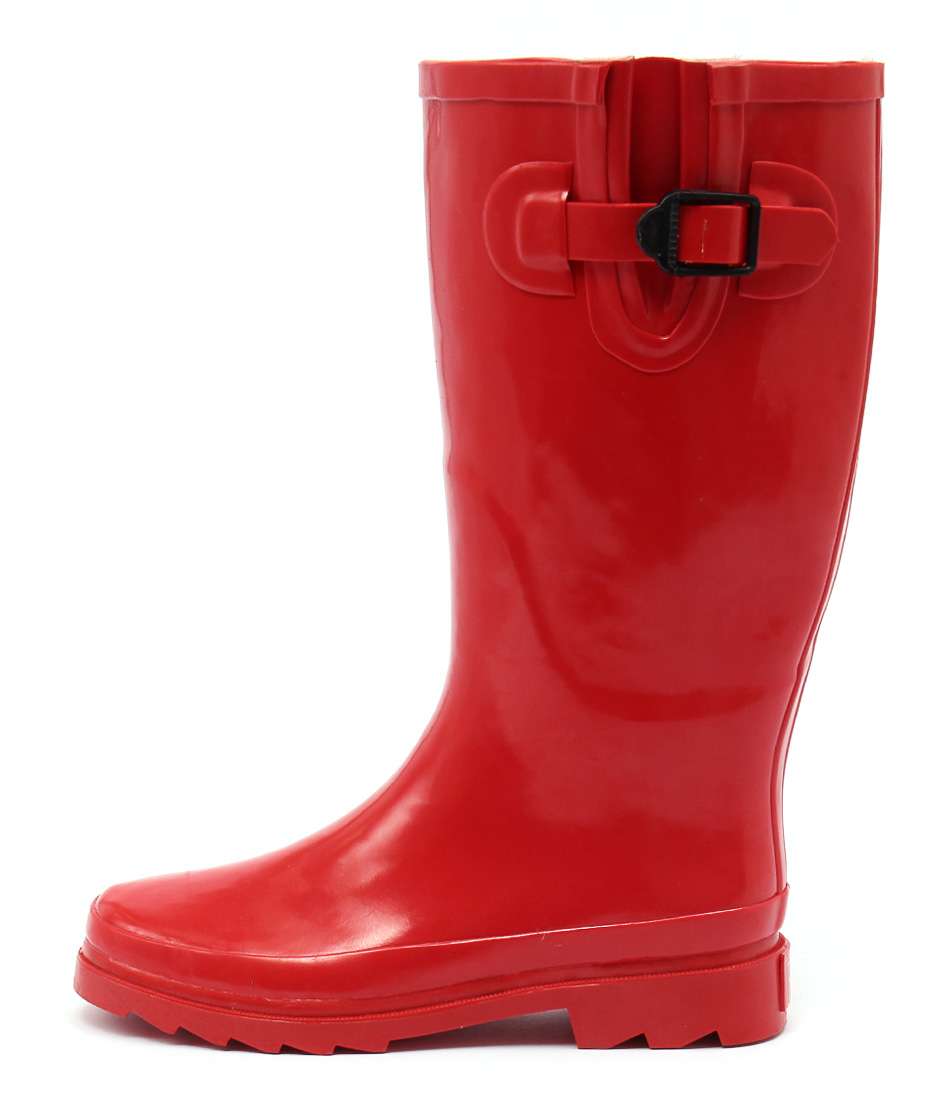Gumboots Chilli Red Calf Boots