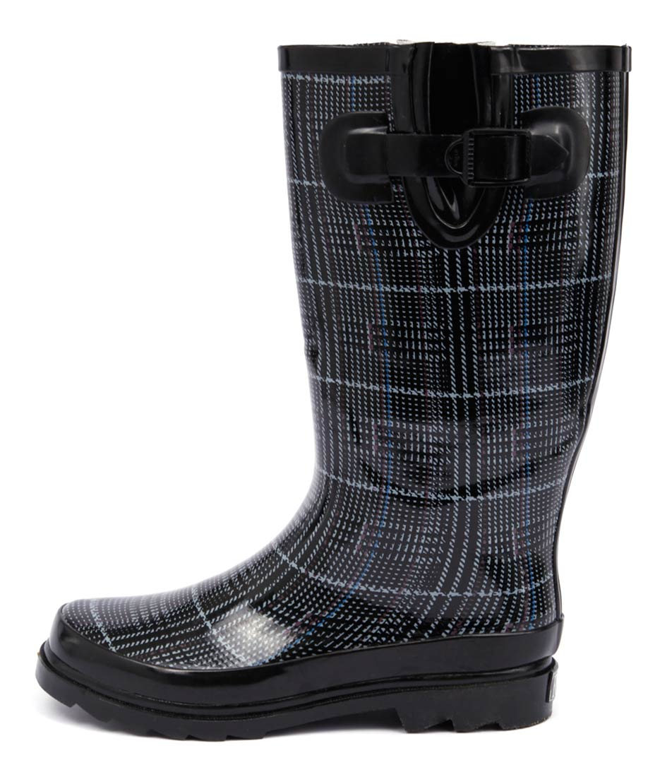 Gumboots Grey Tweed Grey Comfort Calf Boots