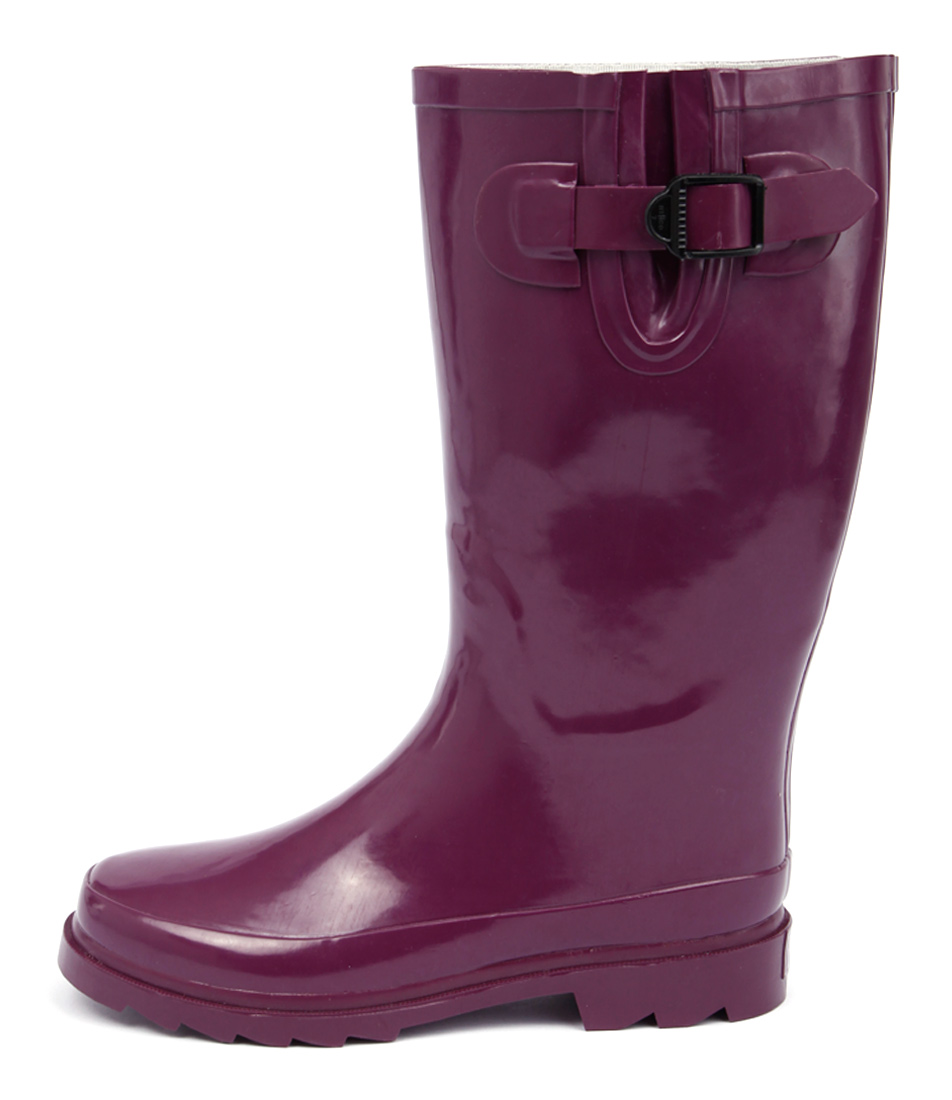 Gumboots Glossy Purple Purple Boots