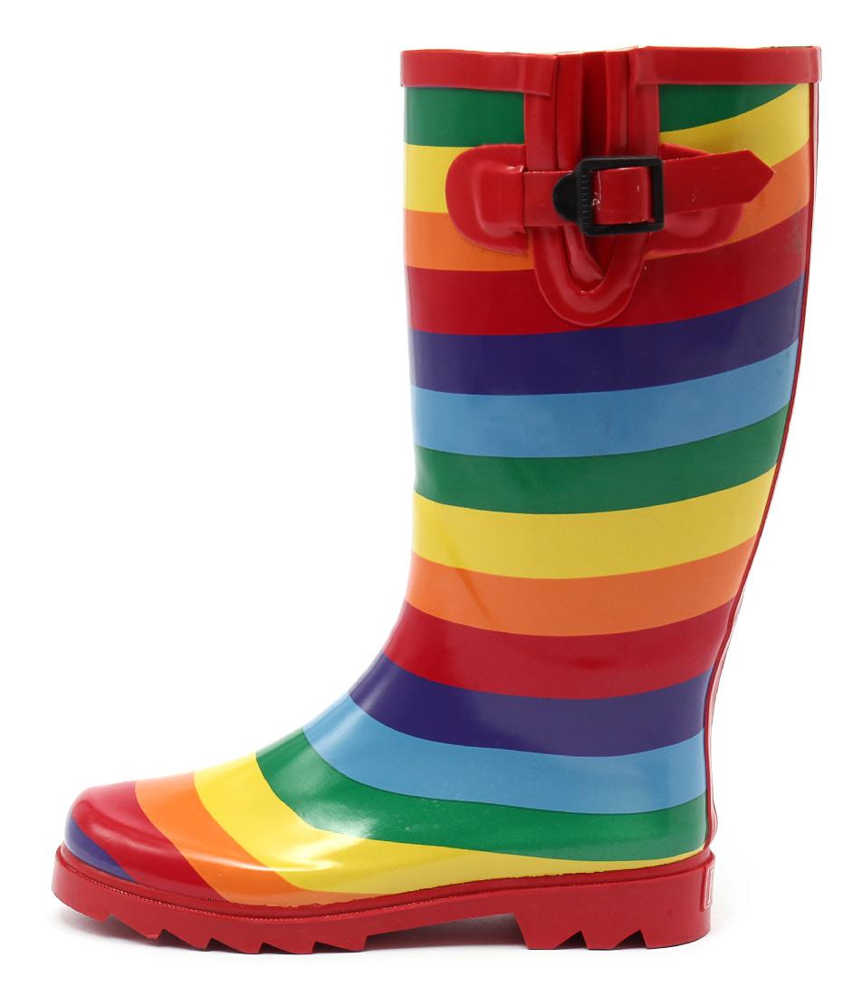 Gumboots Rainbow Long Rainbow Calf Boots