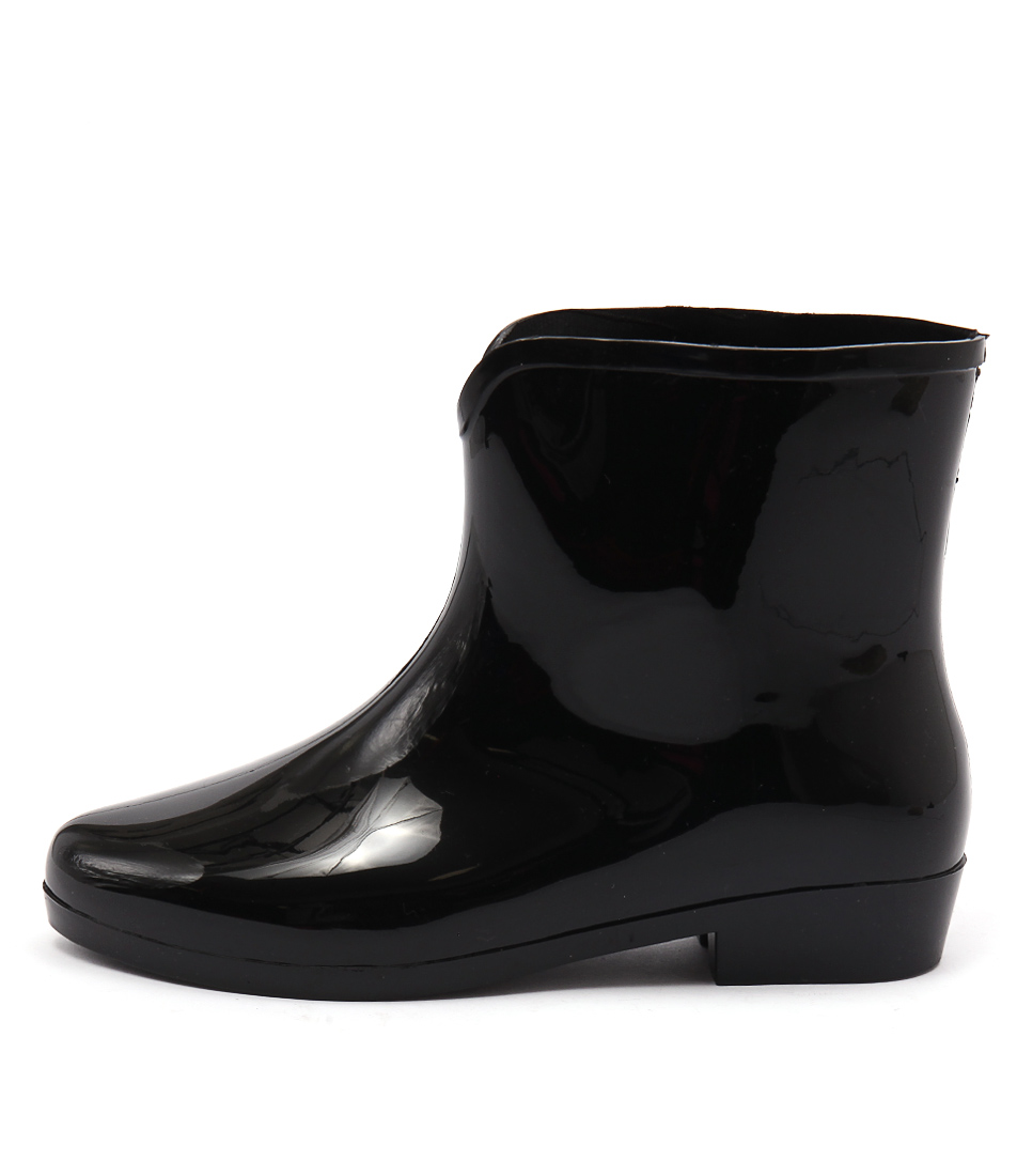 Gumboots Dolly Pvc Black Ankle Boots