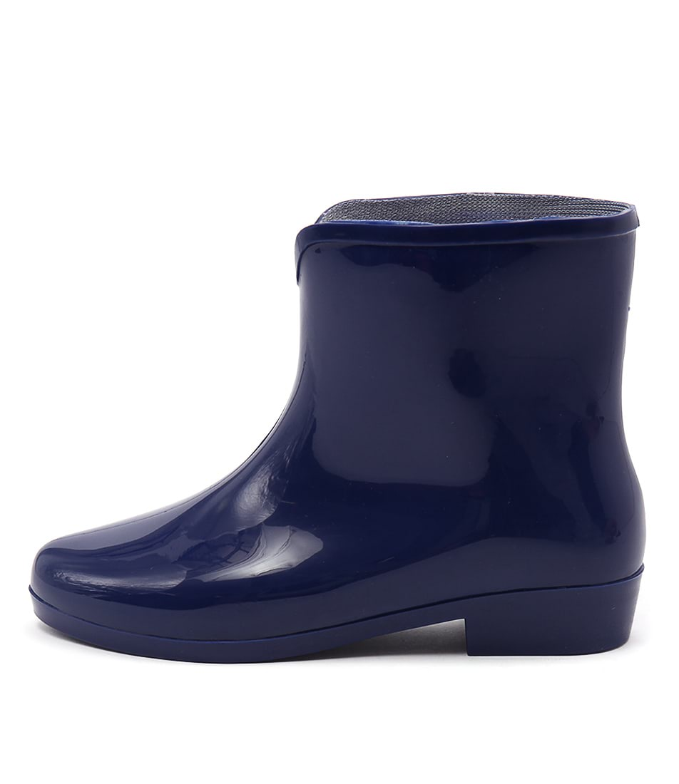 Gumboots Dolly Pvc Blue Ankle Boots