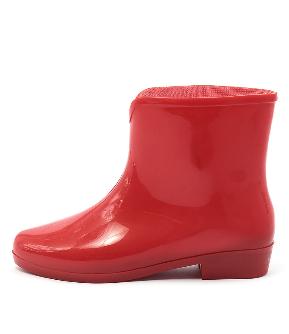 Gumboots Dolly Pvc Red Ankle Boots