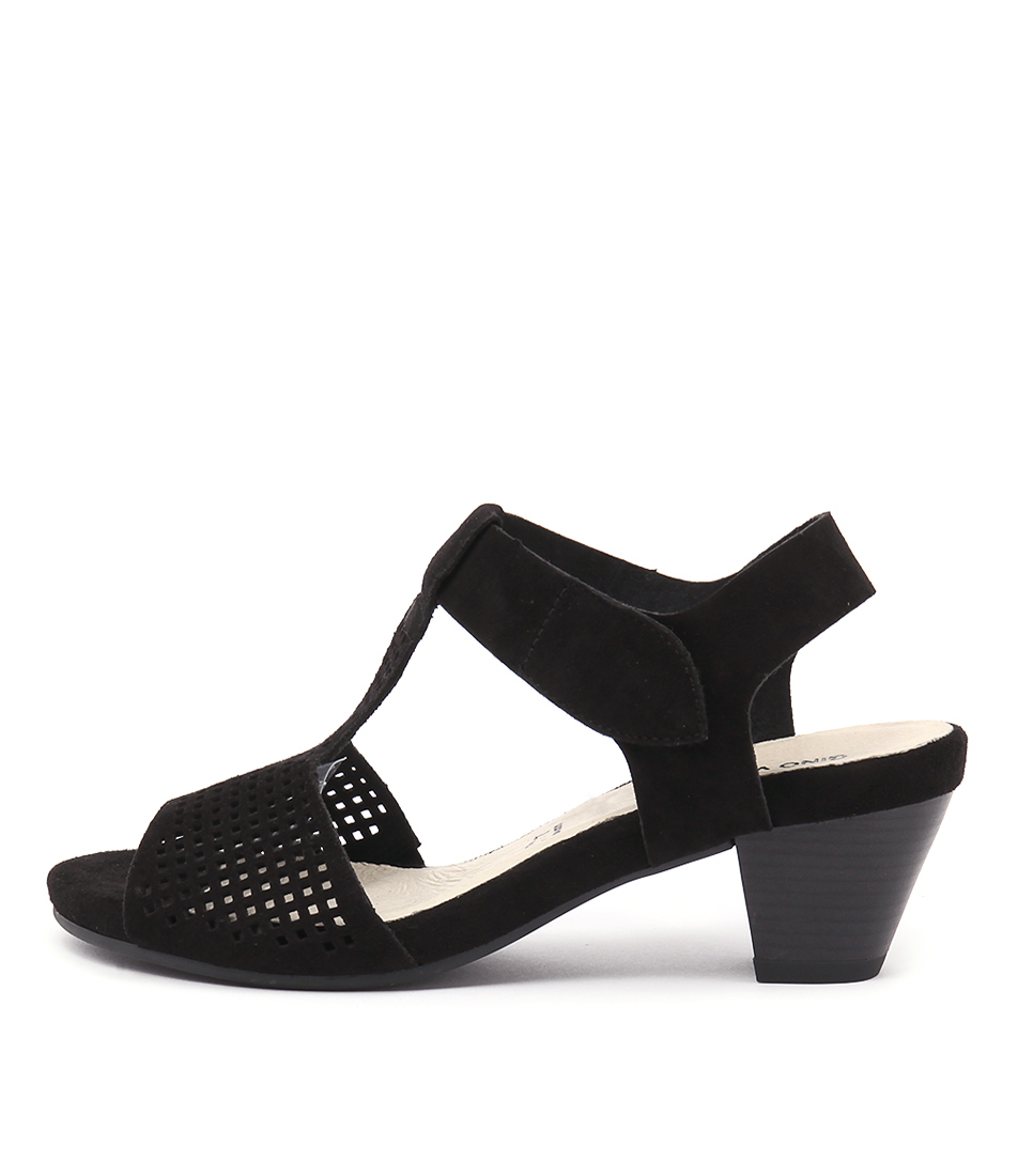 Gino Ventori Fiction Black Sandals
