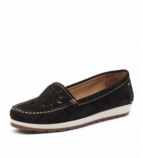 Gino Ventori Japonica Black Flat Shoes