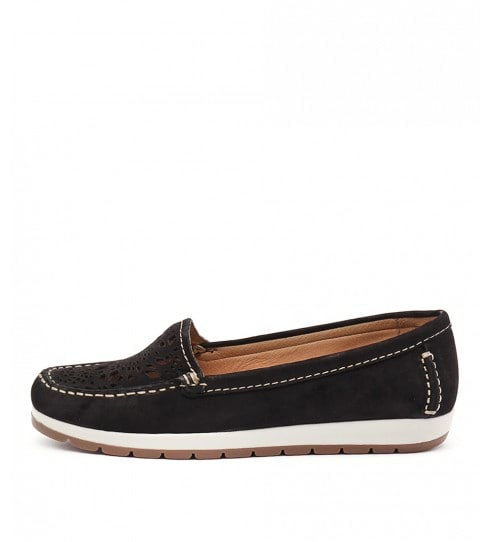 Gino Ventori Japonica Black Flat Shoes