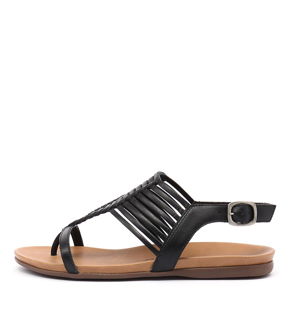 Gino Ventori Nigella Black Sandals