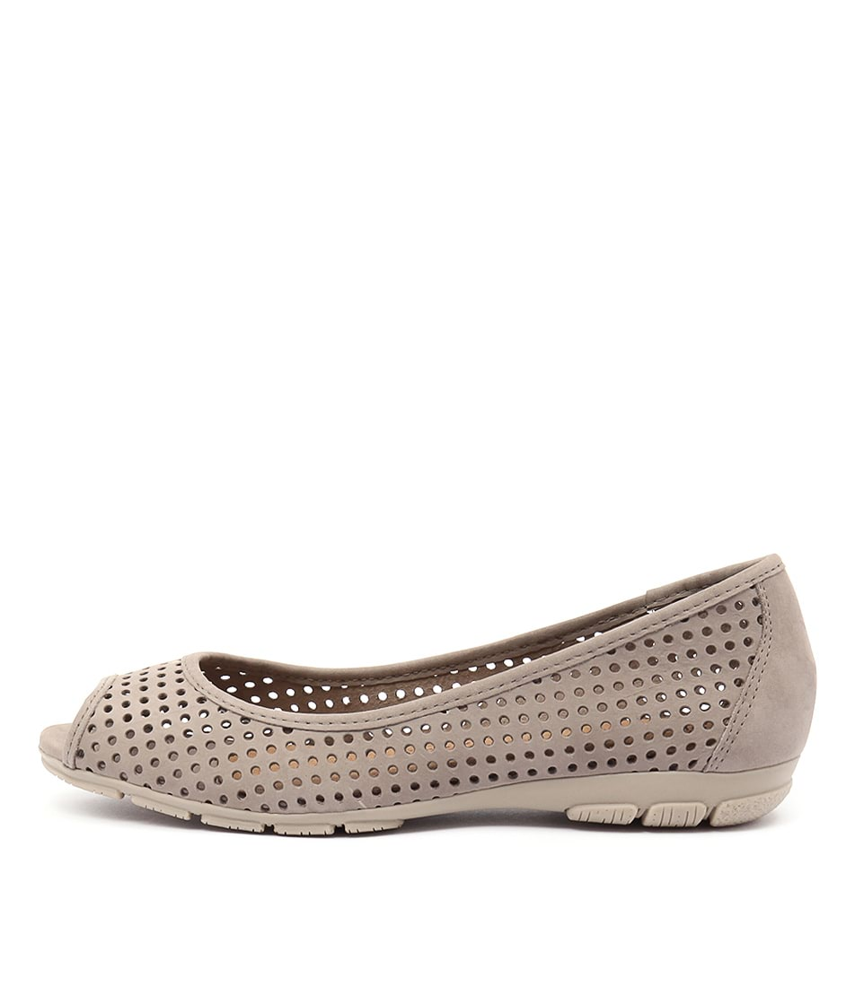 Gino Ventori Nirvana Taupe Flat Shoes