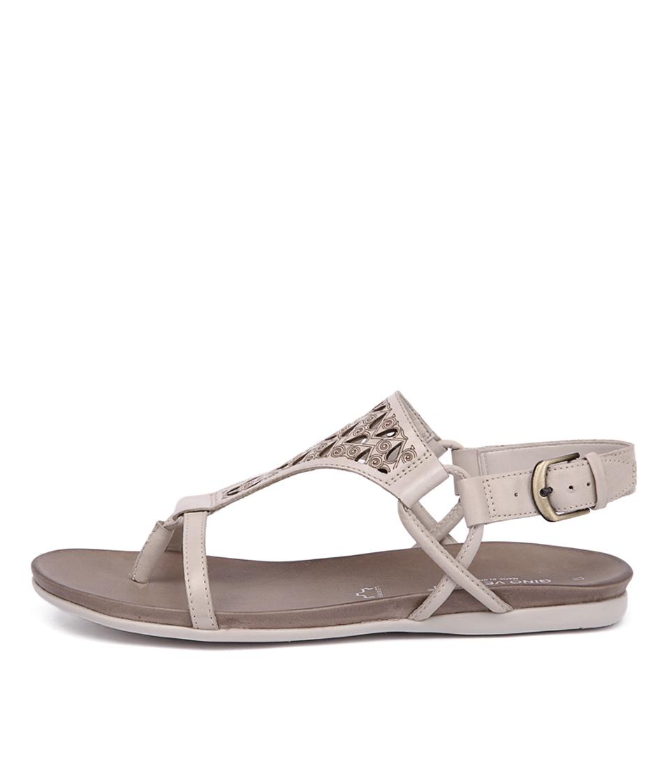 Gino Ventori Move Ivory Flat Sandals