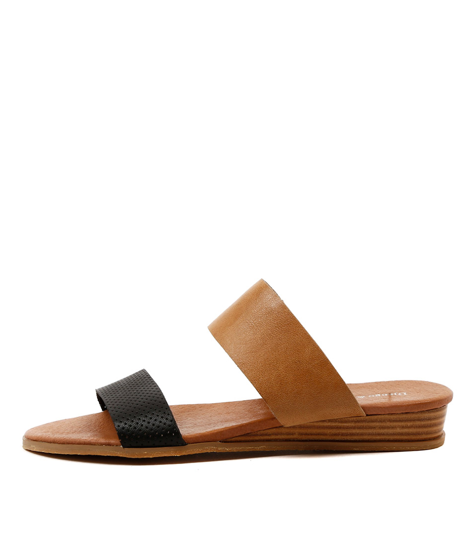 Django & Juliette Hadmy Black Tan Sandals