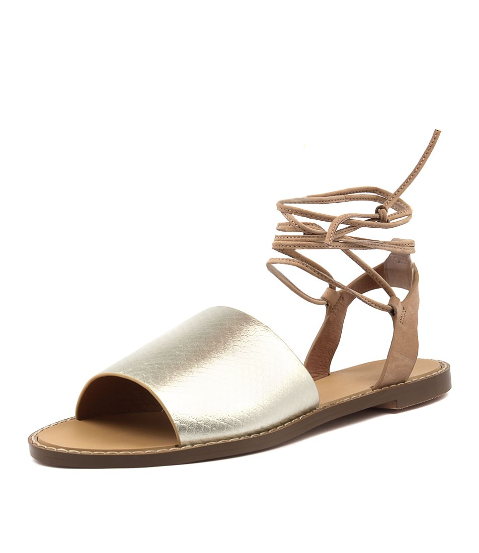 Hael & Jax Moss Gold Sandals