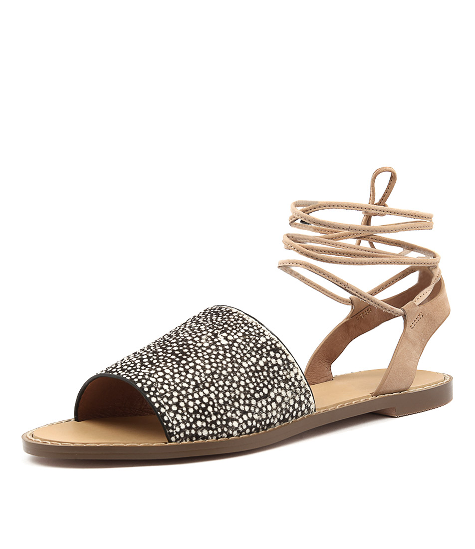 Hael & Jax Moss White Speckle Sandals