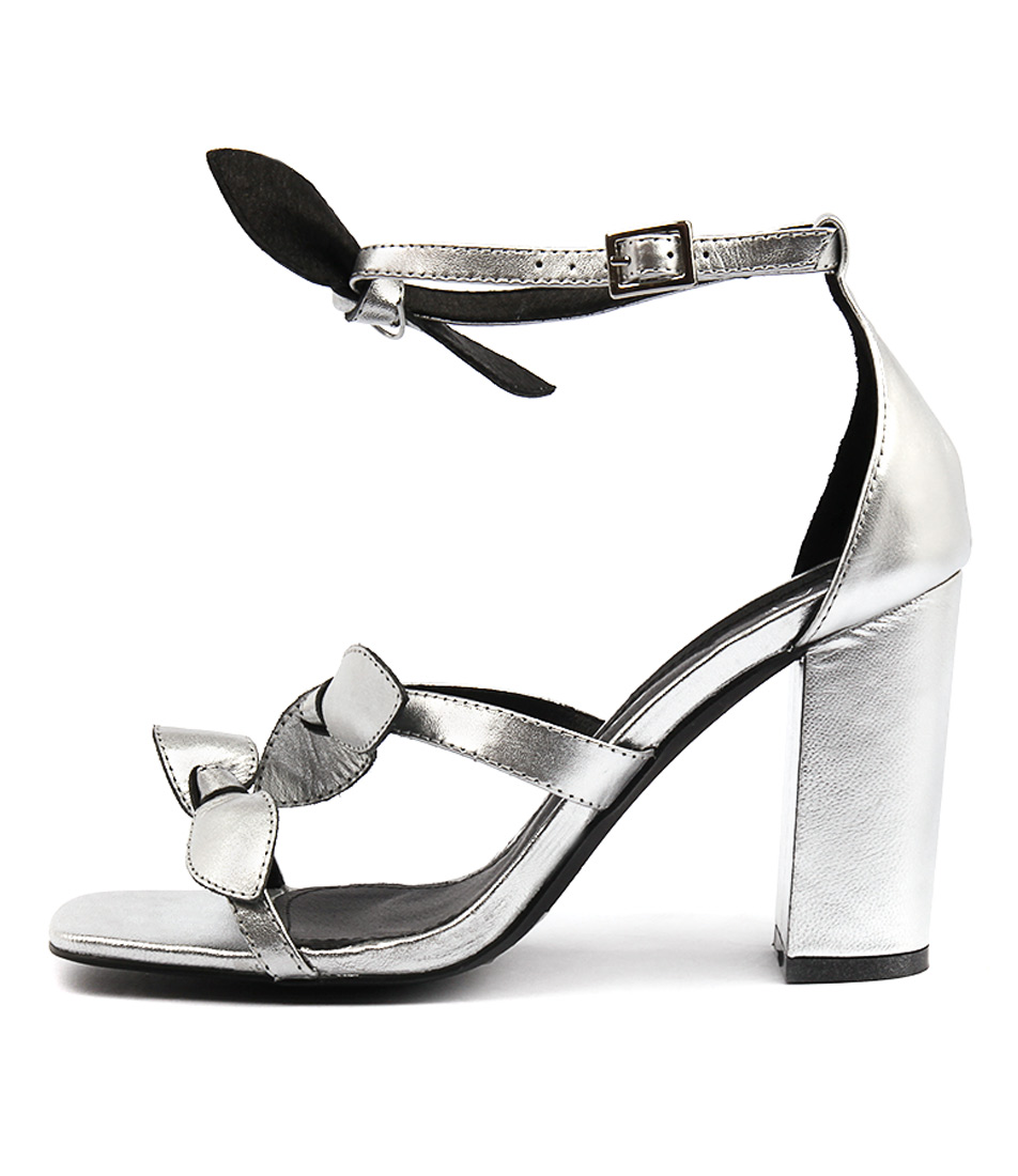 Hael & Jax Daphne Silver Dress Heeled Sandals