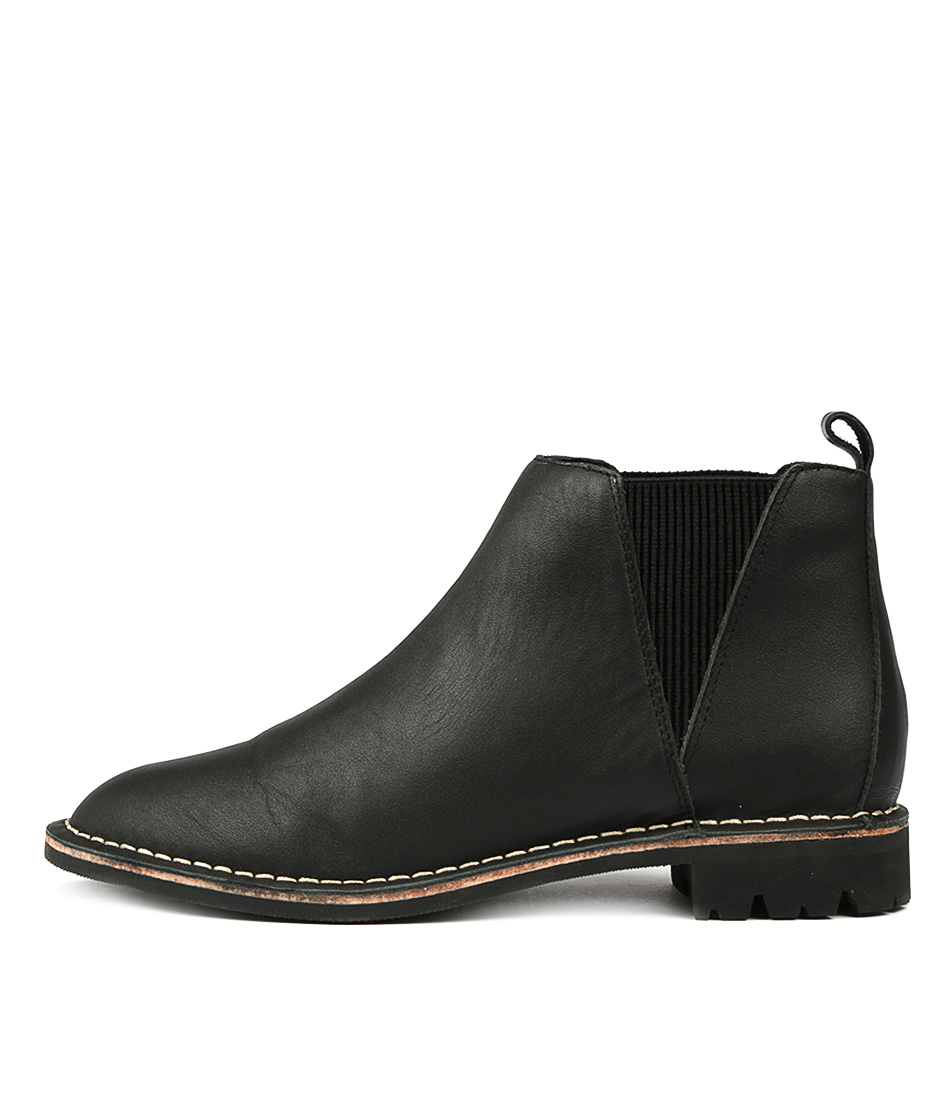 Hael & Jax Preston Black Ankle Boots
