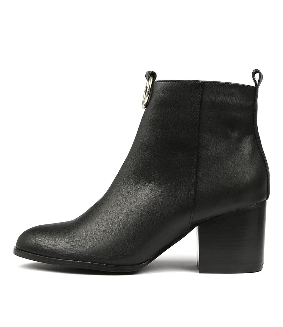 Hael & Jax Barton Black Ankle Boots