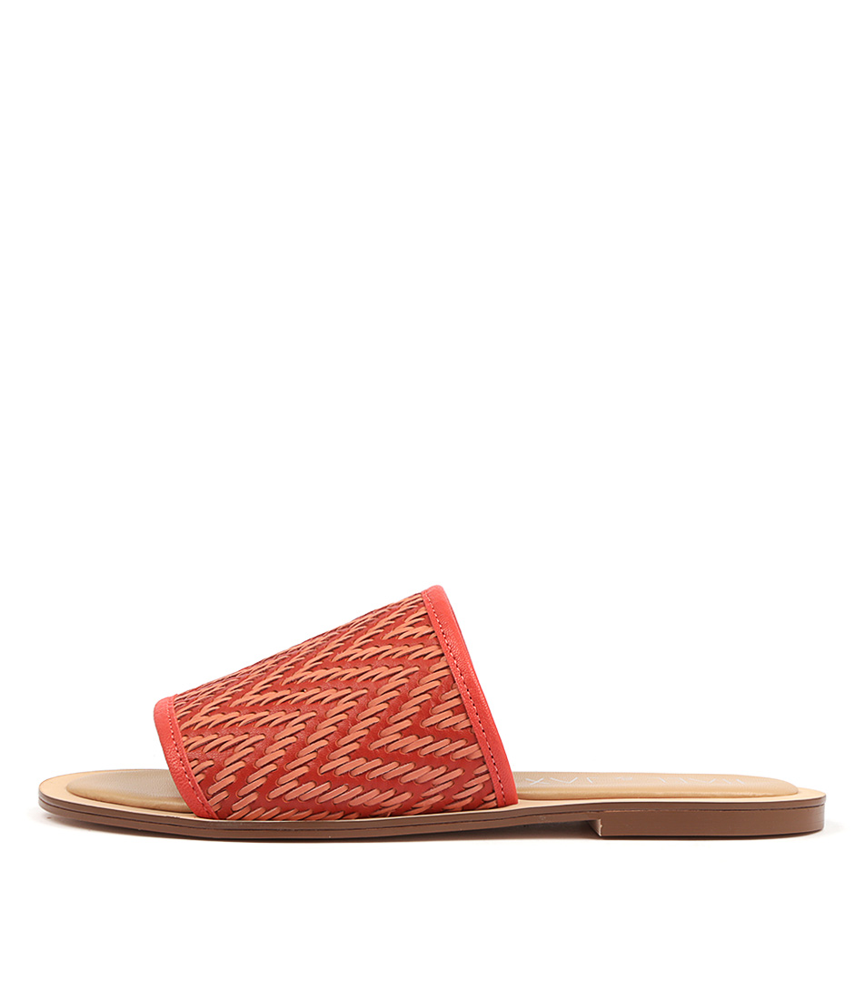 Buy Hael & Jax Twerk Coral Flat Sandals online with free shipping