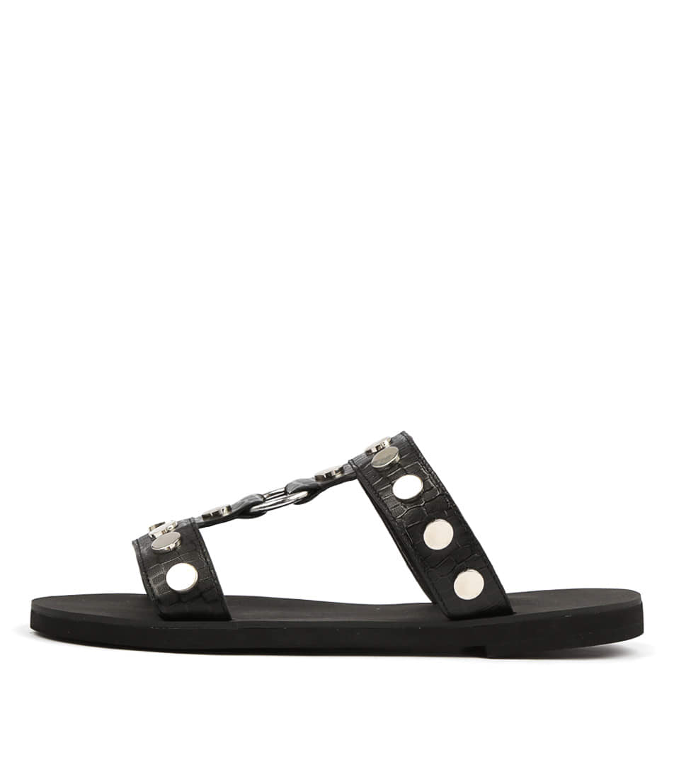 Buy Hael & Jax Hip Hop Black Flat Sandals online with free shipping