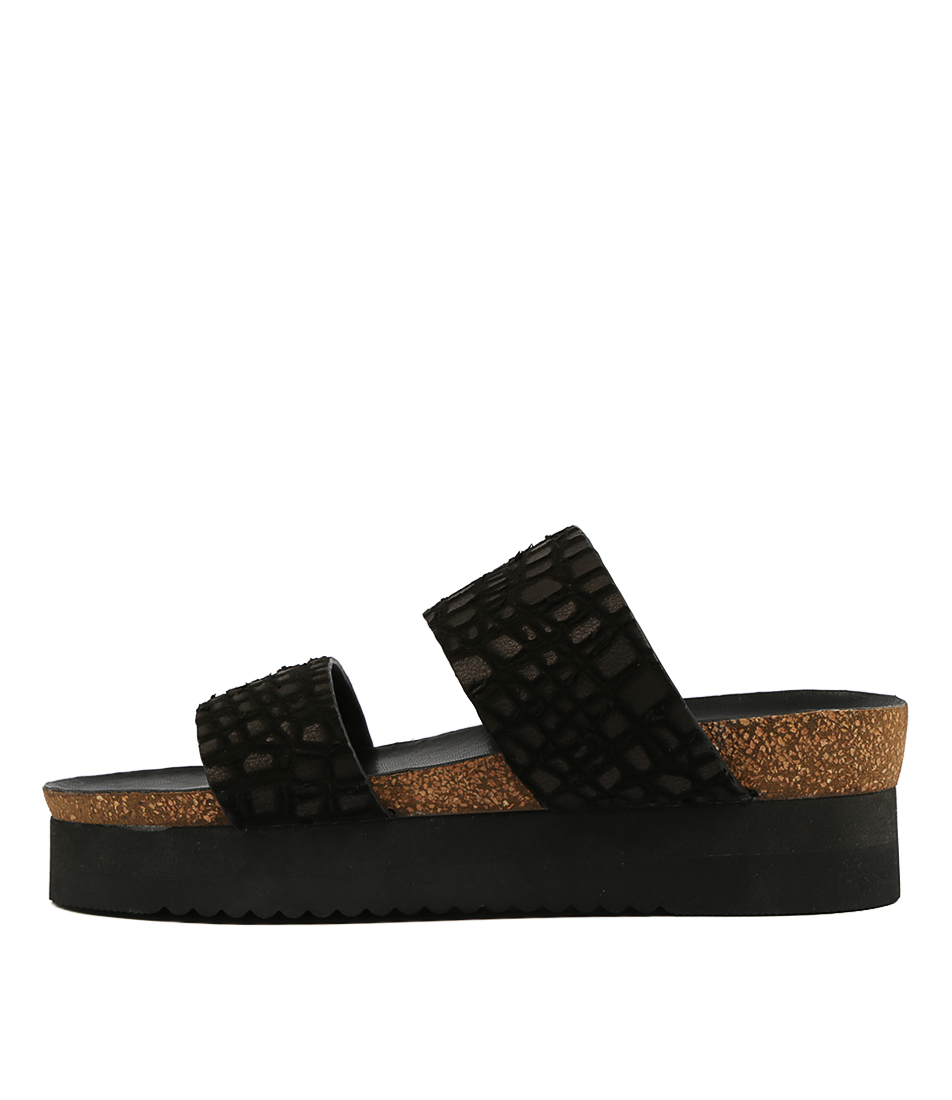 Buy Hael & Jax Swing Black Flat Sandals online with free shipping